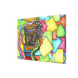 Abstract Technicolor Watercolor Canvas Print