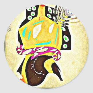 Abstract Temple Figure (Alternative Version) Classic Round Sticker