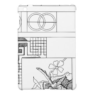 Abstract Textile Design with Flowers and Shapes Case For The iPad Mini