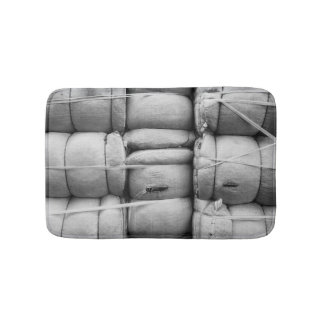 Abstract Texture Black and White Photo Bathroom Mat