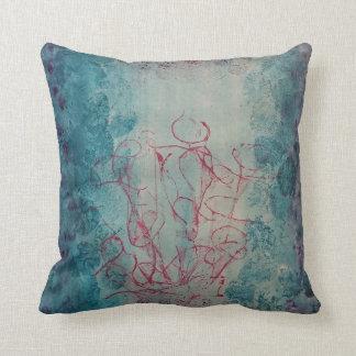 Abstract texture print design throw pillow