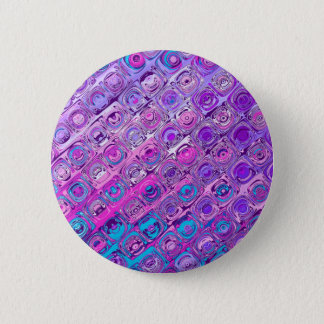Abstract Textured Colorful Purple Pattern Button
