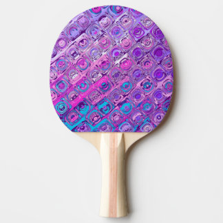 Abstract Textured Colorfull Pattern Ping Pong Ping Pong Paddle