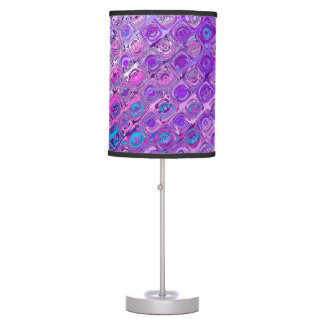 Abstract Textured Colorfull Pattern Violet Lamp