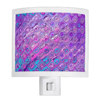 Abstract Textured Colorfull Purple Night Light