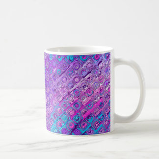 Abstract Textured Colorfull Purple Pattern Mug