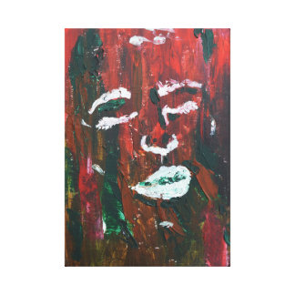 abstract textured face painting canvas print