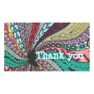 Abstract Thank You insert Pack Of Standard Business Cards