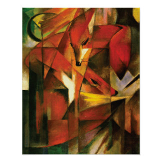 Abstract ~ The Fox by Franz Marc Posters