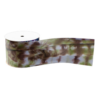 Abstract Tie-Dye Grosgrain Ribbon