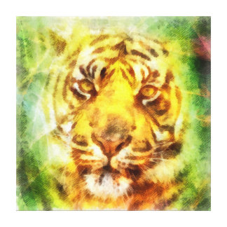 Abstract tiger head painting canvas prints