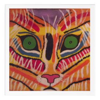 Abstract Tiger in Acrylic Acrylic Wall Art