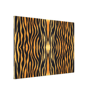 Abstract Tiger Print Wrapped Canvas