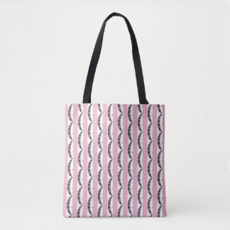 Abstract Tiled Crescent Waves Tote Bag
