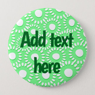Abstract tiny floral 4 inch round button