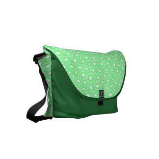 Abstract tiny floral commuter bag