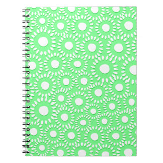 Abstract tiny floral notebook