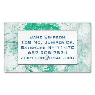 abstract torques paint business card magnet