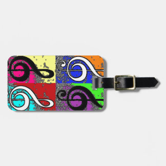 Abstract Treble Clef Luggage Tag