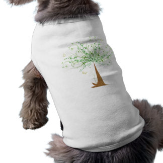 Abstract Tree and Butterflies Doggie T-shirt