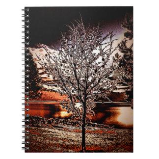 Abstract tree at the lake notebook