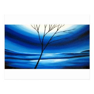 Abstract Tree Blue Sky Postcard