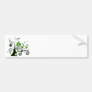 Abstract Tree Bumper Sticker