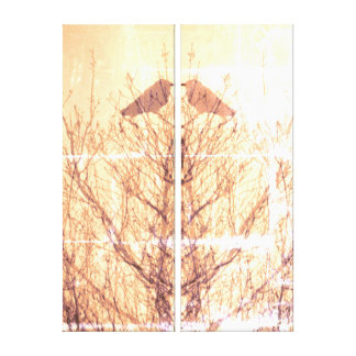 Abstract tree crow bird print
