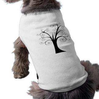 Abstract Tree Doggie Tee Shirt