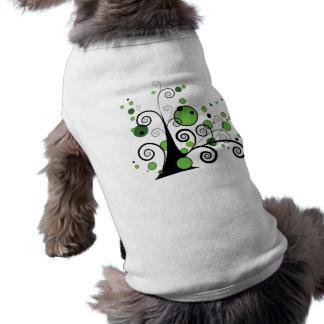 Abstract Tree Doggie T Shirt