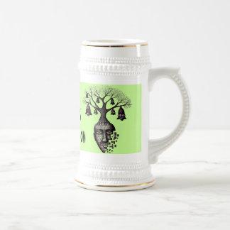 Abstract tree funny beer mug design
