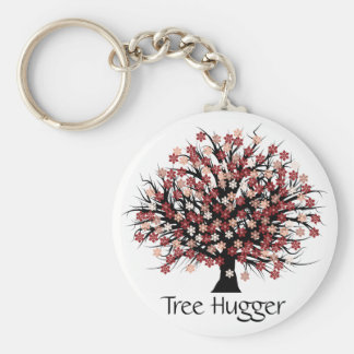 Abstract Tree Hugger Key Chains