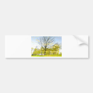 Abstract tree in autumn bumper sticker