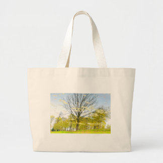 Abstract tree in autumn large tote bag