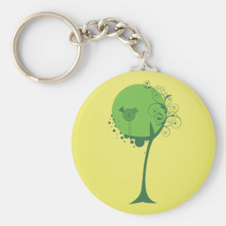 Abstract Tree Keychain