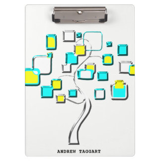 Abstract Tree of figures metal Clipboard