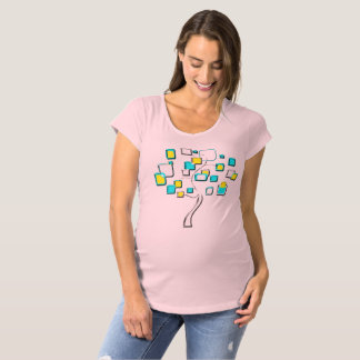 Abstract Tree of figures metal Maternity T-Shirt
