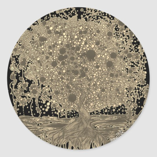 Abstract Tree Sticker
