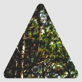 Abstract Trees 69 Triangle Sticker