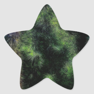 Abstract Trees 933 Star Sticker