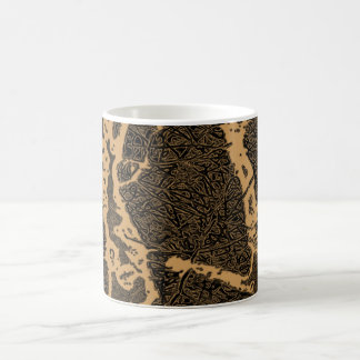 Abstract trees classic white coffee mug