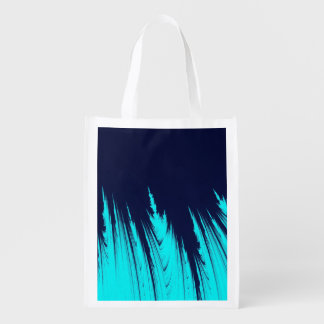 ABSTRACT TREES REUSABLE GROCERY BAG
