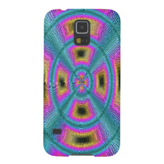 Abstract trendy circle square pattern galaxy s5 cover