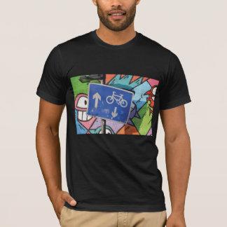 Abstract trendy close up art of graffiti tags T-Shirt