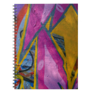 Abstract trendy graffiti close up photographic art notebook