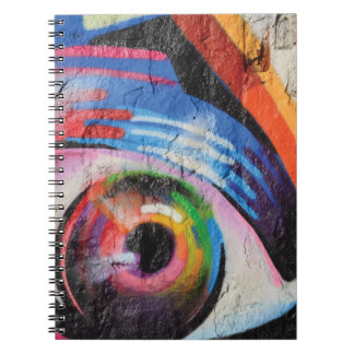 Abstract trendy graffiti close up photographic art spiral notebooks