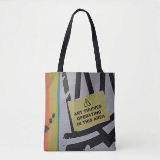 Abstract trendy graffiti close up photographic art tote bag