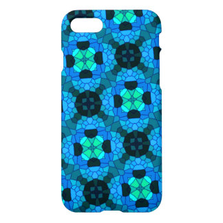 abstract trendy modern blue pattern iPhone 7 case