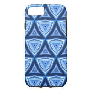 Abstract Triangle Blue Pattern iPhone 7 Case