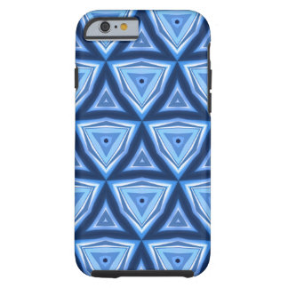 Abstract Triangle Blue Pattern Tough iPhone 6 Case